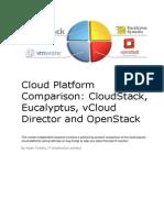 Cloud Platform Comparison CloudStack Eucalyptus VCloud Director and Openstack