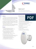 Apex Lynx Datasheet microxave antenna