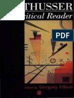Gregory Elliott Althusser a Critical Reader