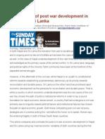Comparison of Post War Development in Nepal and Sri Lanka