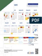 2014 Calendario Escolar 2014-2015 H