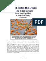 Christ Hates the Deeds of the Nicolaitans