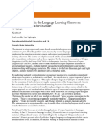 Corpora in Language Learning