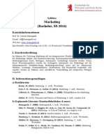 Marketing Syllabus Ss 2014