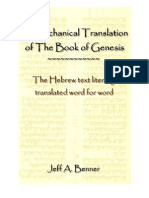 A Mechanical Translation of the Book of Genesis