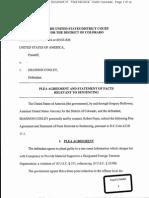 Shannon Conley Plea Agreement
