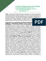 Estatutos de La Asociación de Peritos Agrónomos y Forestales. Sept. 2014