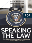 Speaking the Law (Chapter 4), by Kenneth Anderson and Benjamin Wittes