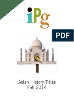 IPG Fall 2014 Asian History Titles
