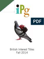 IPG Fall 2014 British Interest Titles
