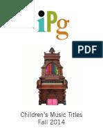IPG Fall 2014 Children's Music Titles