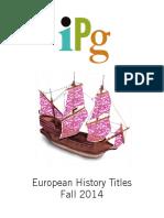 IPG Fall 2014 European History Titles