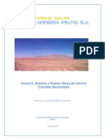 Analisis y Diseno de Obras de Control de Crecidas Aluvionales