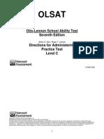 OLSAT-level C Practice