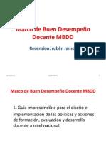 Marco de Buen Desempeño Docente MBDD