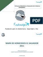 Mapa Homicidios ElSalvador 2011