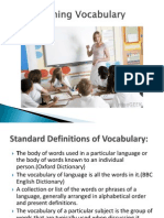 1st Lec, Problems of Vocabulary Teaching & Strategies