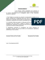 PARTIDO PERÚ POSIBLE Y GRUPO PARLAMENTARIO RESPALDAN AL CONGRESISTA JOSÉ LEÓN