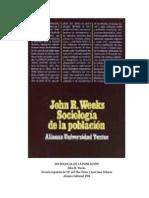 Weeks John R - Sociologia de La Poblacion