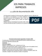 Criterios Para Trabajos Impresos Apa