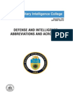 Defense and Intelligence Abbreviations and Acronyms