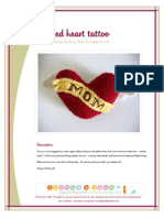 Knitted Stuffed Heart Tattoo Toy