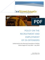 Policy on the Recruitment and Employment of Ex-Offenders