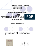 Universidad José Carlos Mariategui - Int. CCJJ - Clase 1
