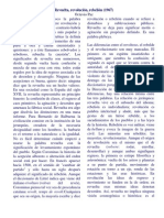 Revuelta Revoltoso Revolucionario Octavio Paz