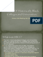 History of Historically Black C0lleges and Universities