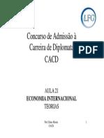 Economia Internacional-teorias 040610 Aula21