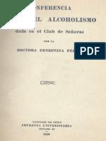Dr. Ernestina Perez 1920 - Conferencia Sobre El Alcoholismo Dada en El Club de Señoras
