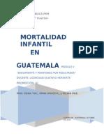 Mortalidad Infantil en Guatemala