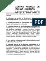 50 Preguntas Acerca de Los Derechos Humanos