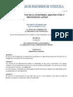 Ley de Ejercicio de La Ingenieria Arquitectura y