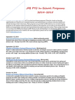 Jfb Pto in-school Enrichment 2014-2015 Final Copy