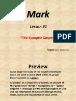 1. the Synoptic Gospels
