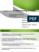 Impact of IT Outsourcing in India