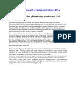 Pengaruh Panas Dan PH Terhadap Melelehnya DNA