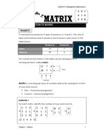 (chapter 9) matrix