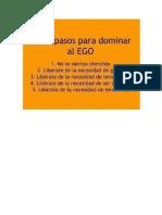 Cinco Pasos Para Dominar El Ego