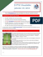 JFB PTO Newsletter 09-10-14