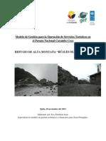 Modelo Gestion Refugio Cayambe 27-12-2013 PDF