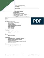 Calculator-fx260 Training Guide