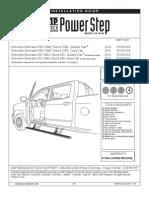 Escalon Retraible para camioneta Chevy Silverado/GMC Sierra 1500 2014