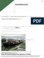 Canal de Panamá Duplicará Sus Ingresos en 10 Años _ Dinero