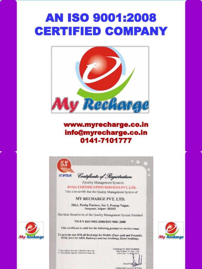 My Recharge Power Point June 2014 | Short Message Service