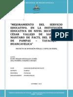 IE Cesar Vallejo San Juan Mantaro de Pacti