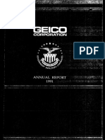 Geico - 1991 Annual Report
