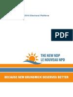 2014 Ndp Election Platform